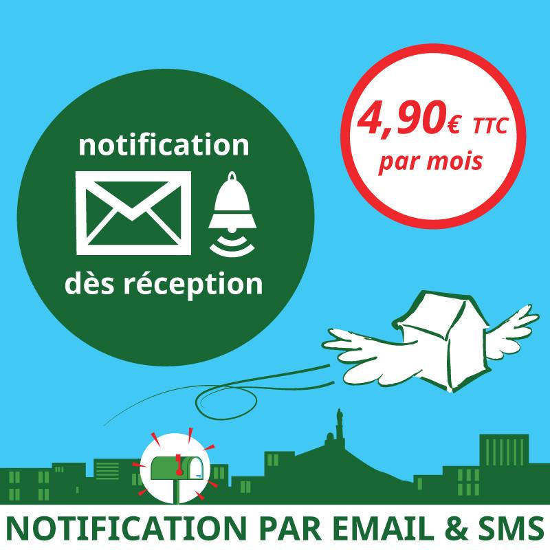 Notification dès réception d'un courrier - Ouvrir une Boîte postale en France
