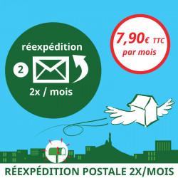 Réexpédition postale 2x / mois - Ouvrir une Boîte postale en France
