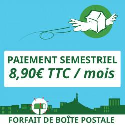 6 mois de boîte postale à Marseille 1er - Ouvrir une Boîte postale en France