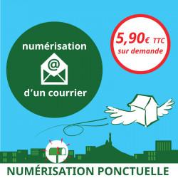Numérisation ponctuelle d'un courrier - Ouvrir une Boîte postale en France