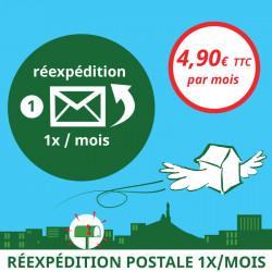 Réexpédition postale 1x / mois - Ouvrir une Boîte postale en France