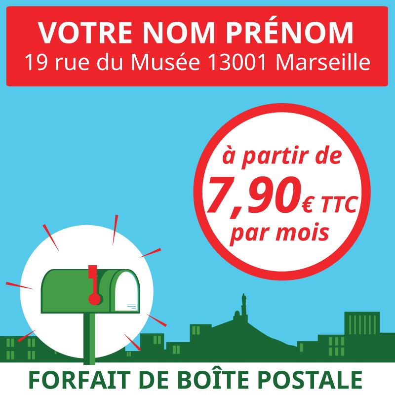 Service en ligne de boîtes postales pour particuliers, voyageurs et expatriés à Marseille 1er